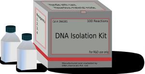 Mit DNA-Isolationskits ähnlich zu diesem hier wird die DNA von den Beweismitteln isoliert.