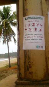 Ebolawarnung in Sierra Leone (Foto: Stefan Kloth)