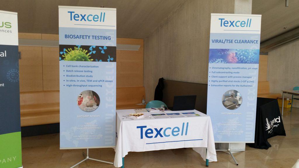 Der Texcell-Stand auf einer Konferenz (Foto: Anja Heins)