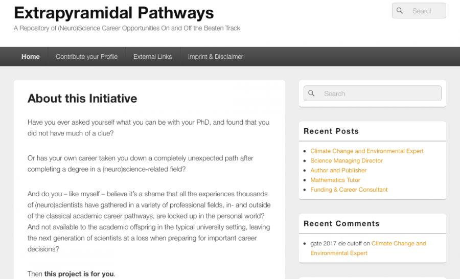 Webauftritt von extrapyramidal pathways.
